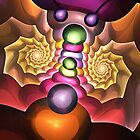 The Moth, Fractal Abstract artwork by walstraasart