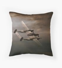 P38 In The Pacific Throw Pillow