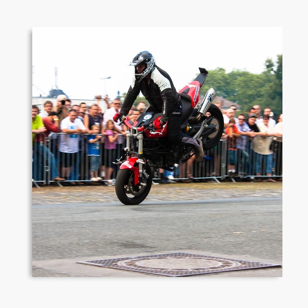motorcycle stunt 002 Canvas Print