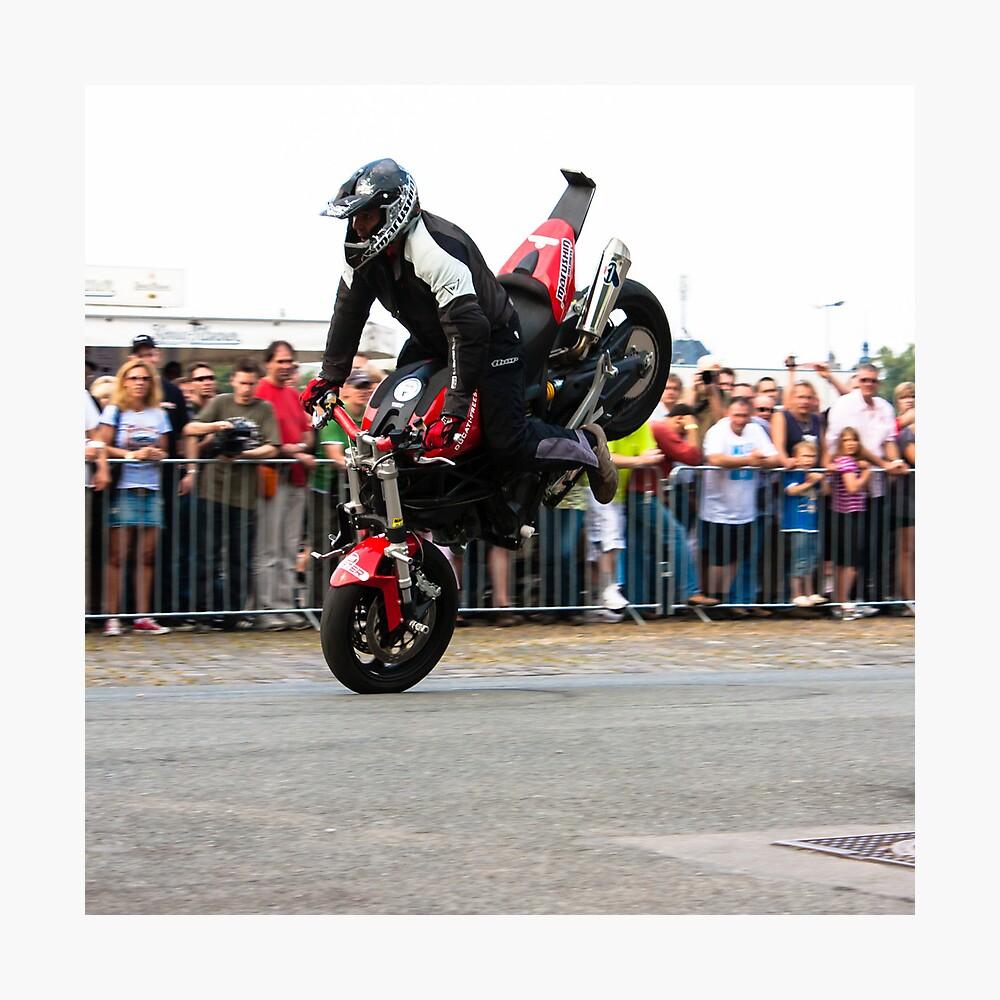 motorcycle stunt 003 Photographic Print
