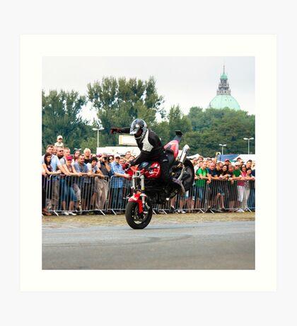 motorcycle stunt 006 Art Print