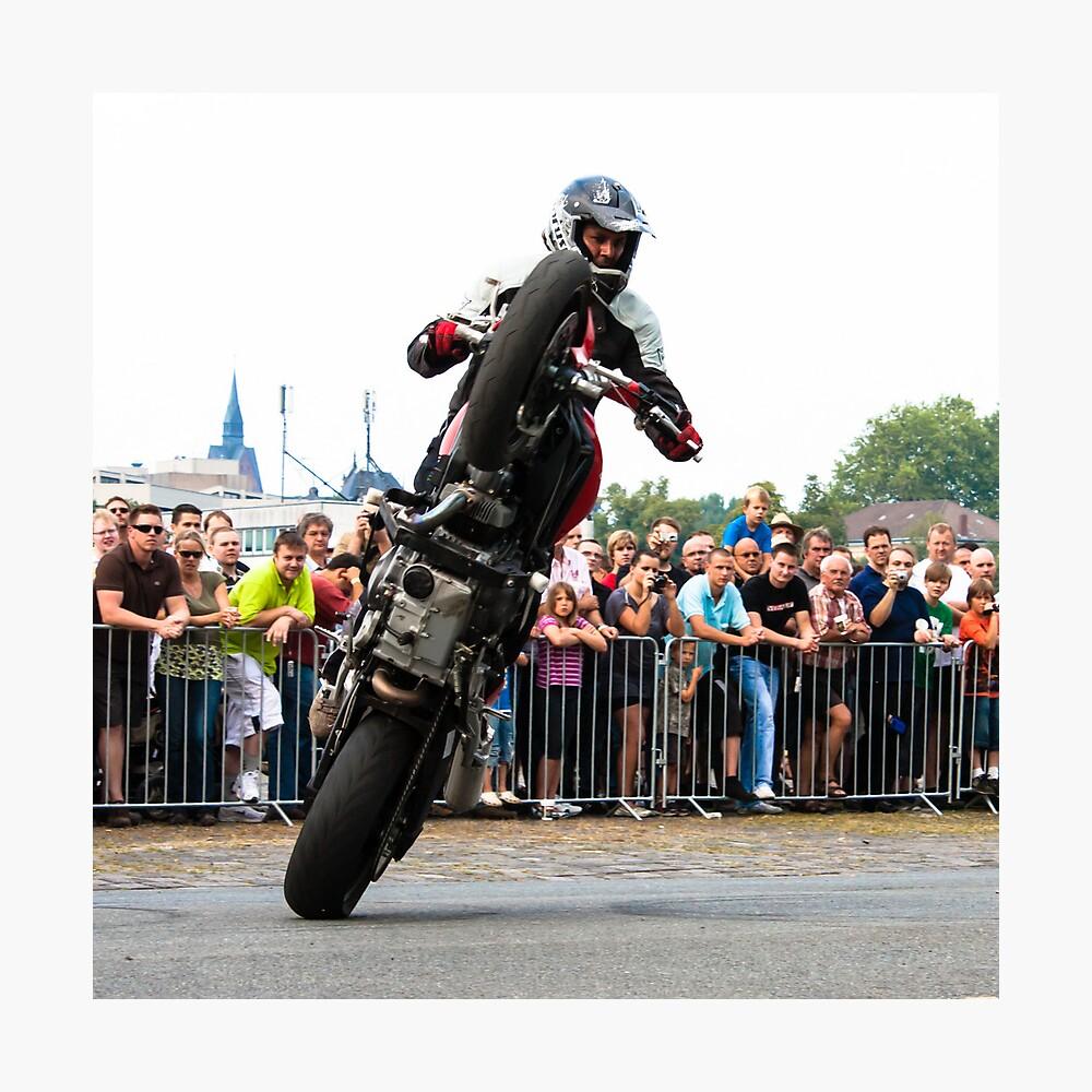 motorcycle stunt 007 Photographic Print