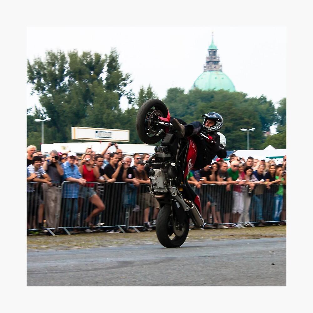 motorcycle stunt 009 Photographic Print