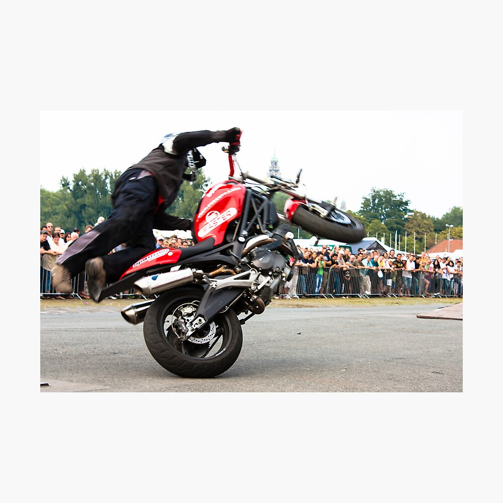 motorcycle stunt 008 Photographic Print