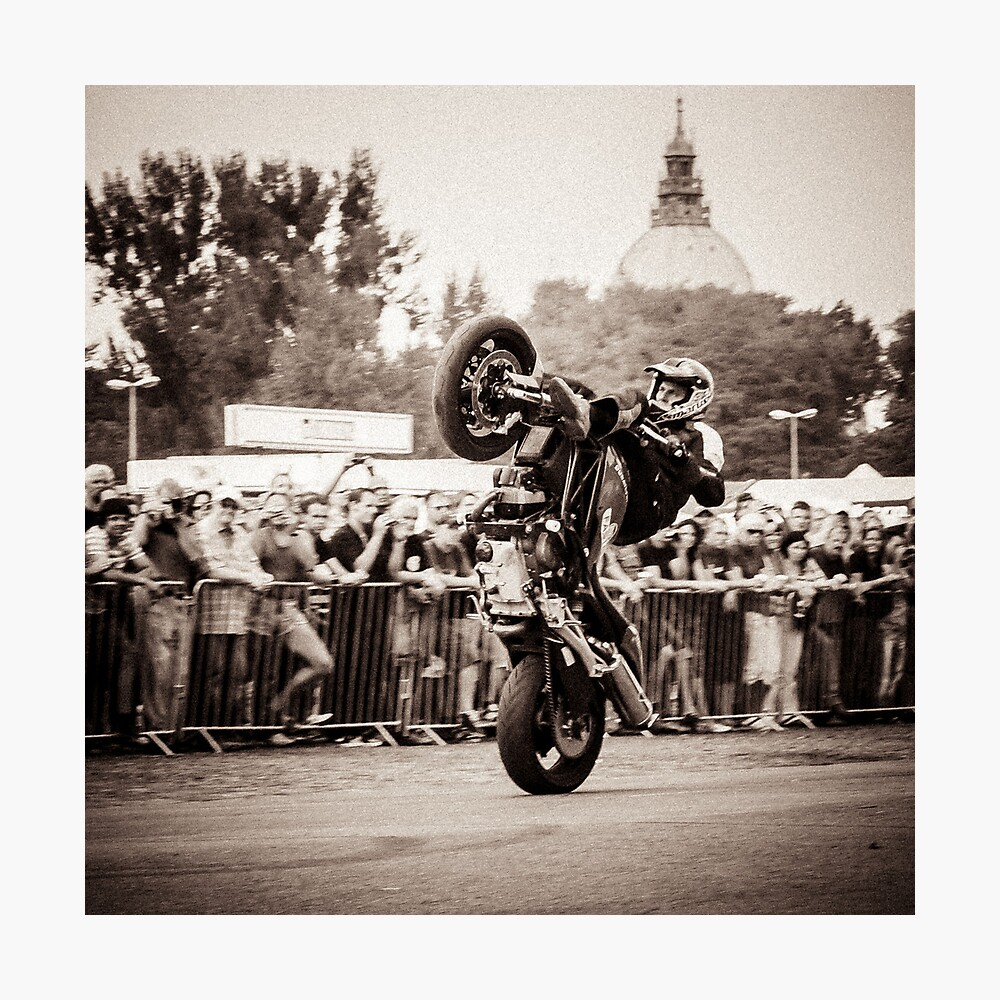 motorcycle stunt 010 Photographic Print