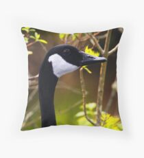 Nobody Here but Us Branches Throw Pillow