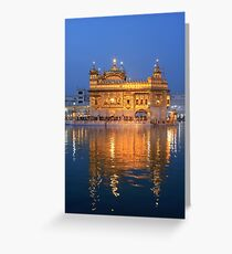 Amritsar Sikh Temple Greeting Card