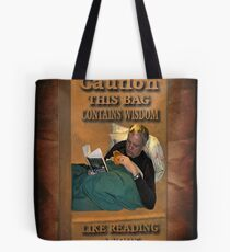 ╭∩╮( º.º )╭∩╮ CAUTION-WISDOM-HAPPY FATHER'S DAY PICTURE/CARD╭∩╮( º.º )╭∩╮  Tote Bag