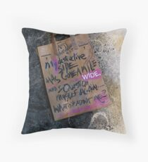 my destructive side . . .  Throw Pillow