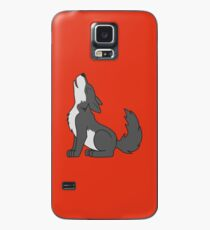 Gray Howling Wolf Pup Case/Skin for Samsung Galaxy