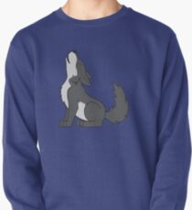 Gray Howling Wolf Pup Pullover