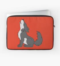 Gray Howling Wolf Pup Laptop Sleeve