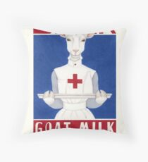 Drink Goat Milk! Throw Pillow
