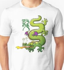 Chinese Dragon Breathing Fire Slim Fit T-Shirt