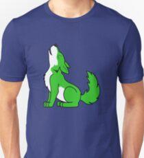 Green Howling Wolf Pup T-Shirt