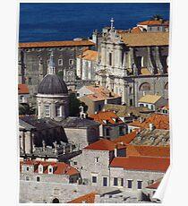 Roof Tops of Dubrovnik Poster