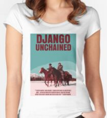 Django Unchained Movie Poster Women's Fitted Scoop T-Shirt