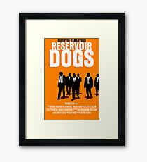 Reservoir Dogs Movie Poster Gerahmtes Wandbild