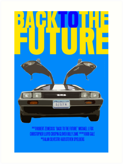 Back To The Future Movie Poster by FunnyFaceArt