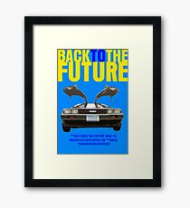 Back To The Future Movie Poster Framed Print