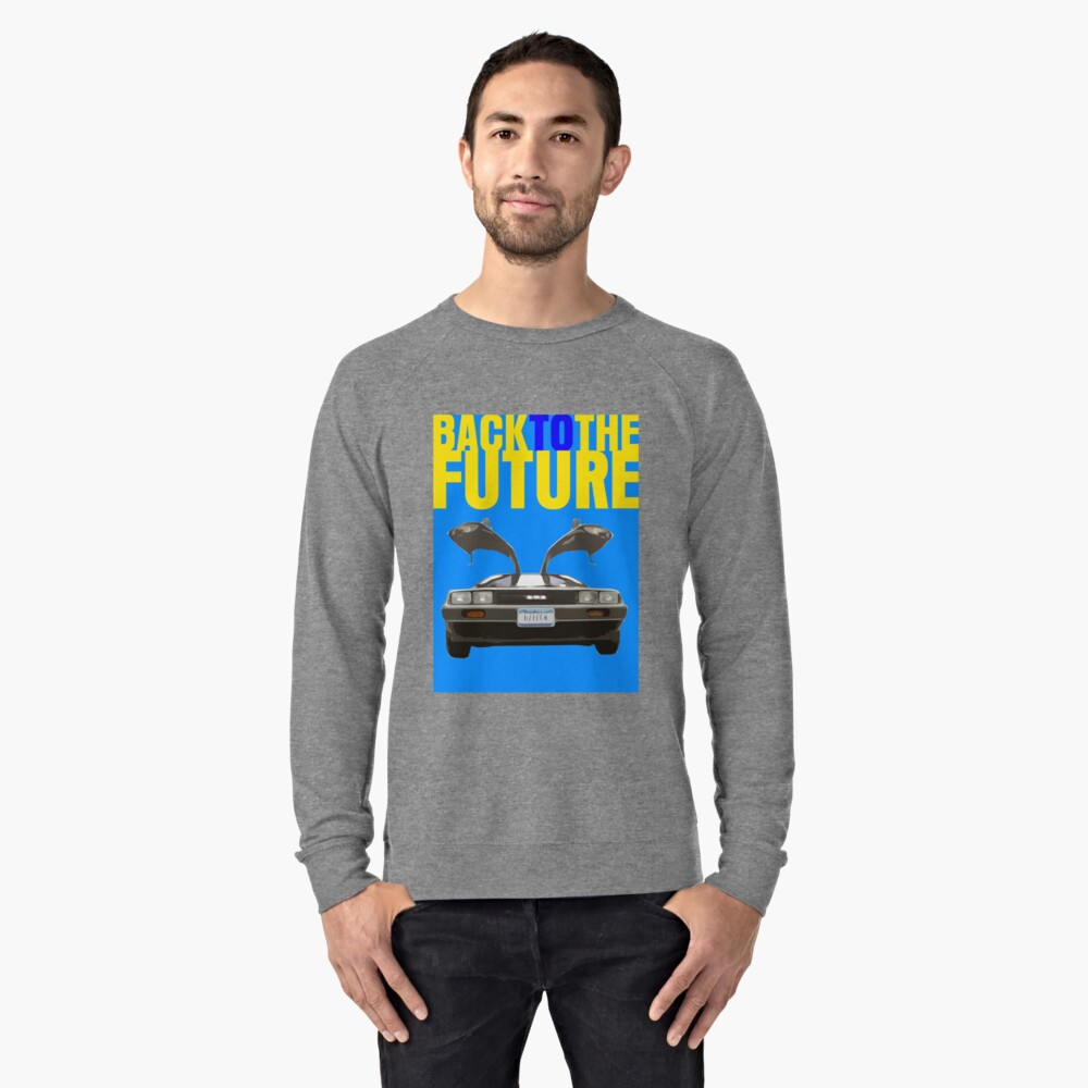 Back To The Future Movie Poster Lightweight Sweatshirt Front