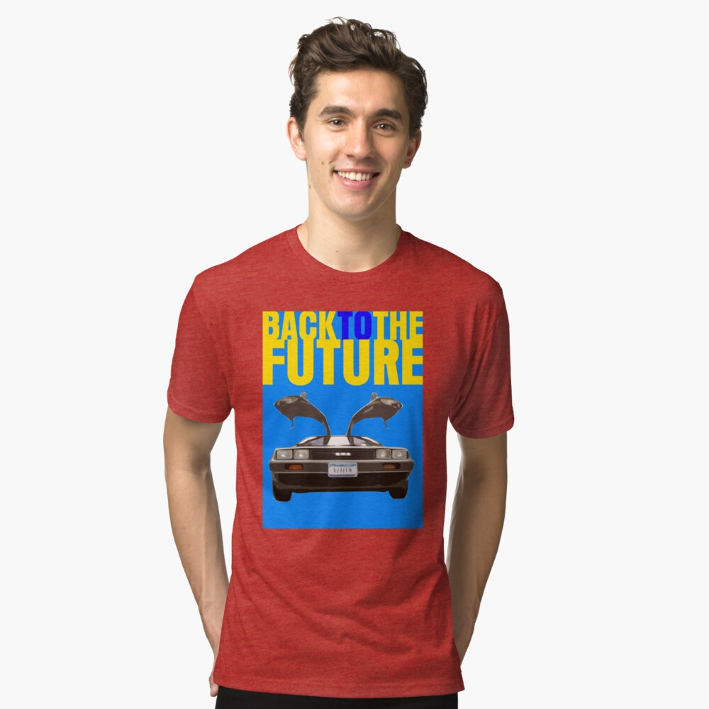 Back To The Future Movie Poster Tri-blend T-Shirt Front