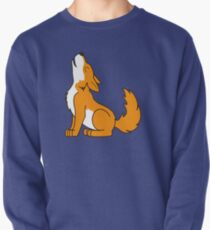 Orange Howling Wolf Pup Pullover