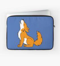 Orange Howling Wolf Pup Laptop Sleeve