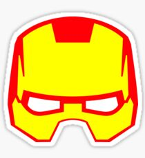 Super hero mask (Iron man) Sticker
