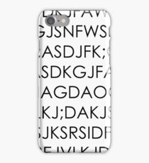 Keysmash phone case iPhone Case/Skin
