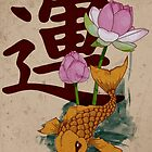 Lucky Fish: Japanese Koi by Maxine Heyns