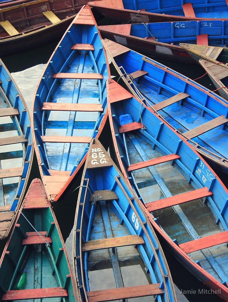 Pokhars Boats by Jamie Mitchell