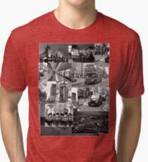 London views :: Black and White Tri-blend T-Shirt