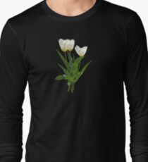 Backlit White Tulip Long Sleeve T-Shirt