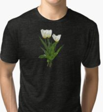 Backlit White Tulip Tri-blend T-Shirt