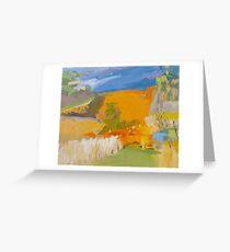 Golden Vineyards V Greeting Card