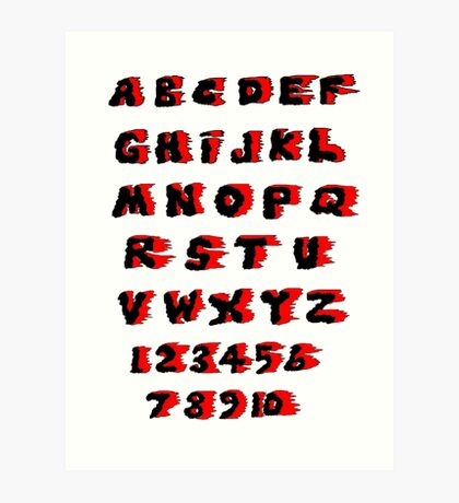 Alphabet on Fire Art Print