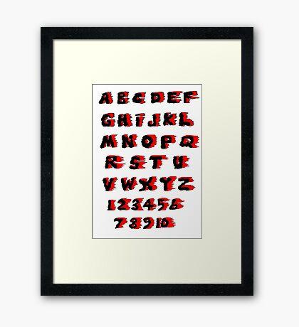Alphabet on Fire Framed Print