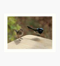 My little birdie  friends Art Print