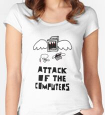 Attack of the Computers Women's Fitted Scoop T-Shirt