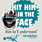 """""""Hit him in the face""""   t-shirt   Kimi on Perez by evenstarsaima"""