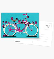 Butterfly Bicycle Postcards
