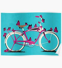 Butterfly Bicycle Poster