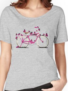 Butterfly Bicycle Women's Relaxed Fit T-Shirt