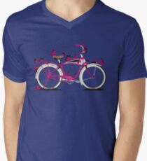 Butterfly Bicycle Men's V-Neck T-Shirt