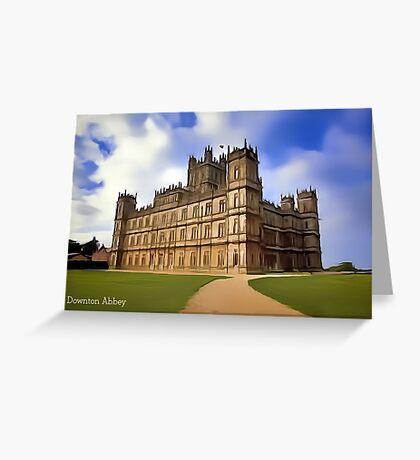 Downton Abbey Digital Art Greeting Card