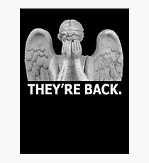 Doctor Who | Weeping Angel (White) Photographic Print