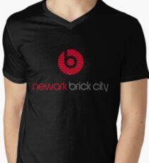 'Brick City BEATS' Men's V-Neck T-Shirt