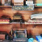 Dressmaking Supplies and Sewing Machine by Susan Savad