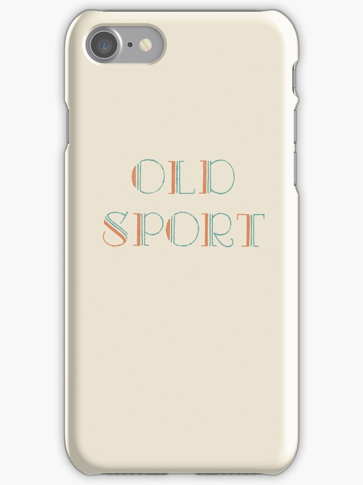Gatsby Old Sport iphone case by nouvellegamine